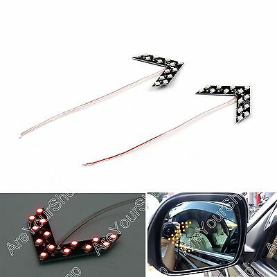 2x Arrow Panel 14 SMD LED For Car Side Mirror Turn Signal Indicator Light Red