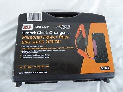 Smart Start Charger, Power Pack/Jump Starter 600 Amp Phone Charger Kit - Ssc06