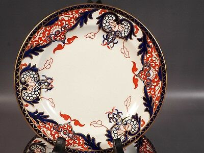 ROYAL CROWN DERBY KINGS IMARI Bread Butter Plate c 1902 England 1240