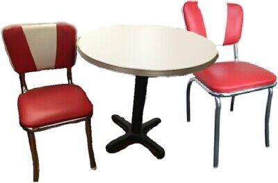 Retro Table and Chair Sets (Metal Edge Tables)