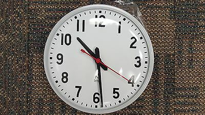 """12"""" National Time Electric Wall Clock Surface Mount"""