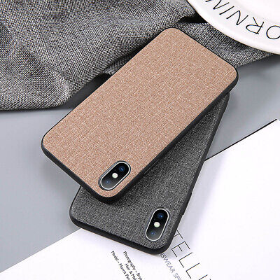 Warm Fabric Slim Case Silicone Shockproof Cover Soft for iPhone 7 8 X XR XS Max
