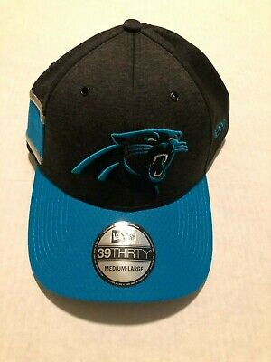 sports shoes 64cbb 5f265 2018 Carolina Panthers New Era 39THIRTY NFL Sideline Home On Field Cap Hat  M L