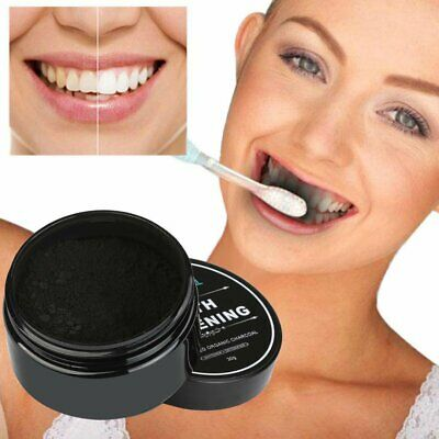 Organic Coconut Activated Charcoal Natural Teeth Whitening Powder Toothpaste