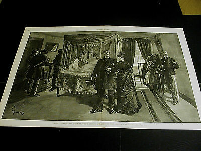 Mount Vernon Room Where GEORGE WASHINGTON DIED 1886 Large Print Very Fine