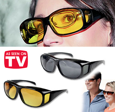 3a51503e7a20 HD Day Night Vision Wraparound Sunglasses As Seen on TV Fit OVER Driving  Glasses