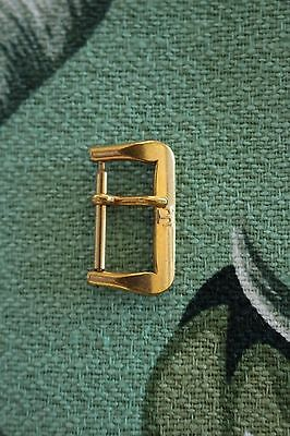Nos Vintage 16Mm Tissot Gold Tongue Buckle For Leather & Nylon Watch Band Strap