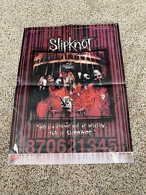Slipknot Signed Autographed Poster All 9 Original Members Paul Gray RARE!