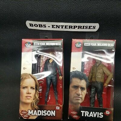 Walking Dead Color Topps Action Figures  Madison and Travis wd-set