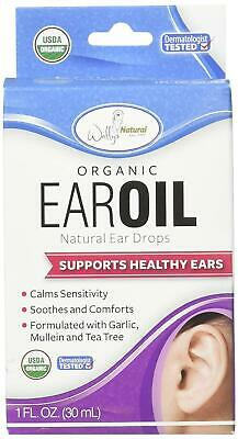 Wally's Natural Organic Earoil Ear Drops 1 fl oz Soothes Comforts