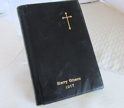 Antique Embossed Leather 1917 German Lutheran Hymnal Song Book MARTIN LUTHER