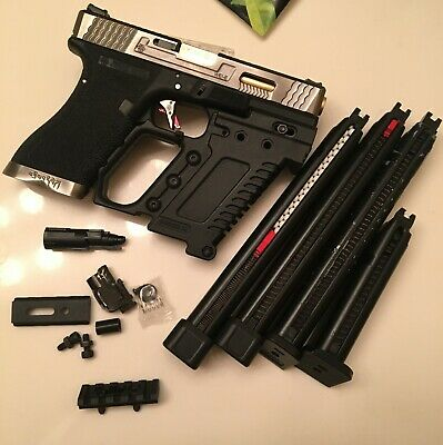 WE TECH G18C Bundle with 4 Magazines and other extra parts and upgrades
