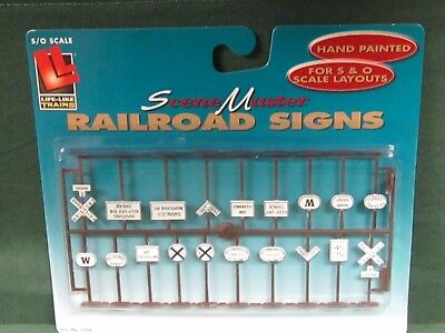 SCALELIKE INDUSTRIES O-RR LINE SIGNS 1 PRINTED ON PLASTIC FACTORY NEW ORL-1