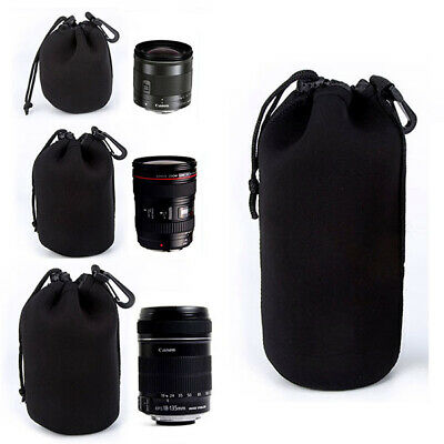 S M L XL Size Waterproof Matin Neoprene Soft Camera Lens Pouch Elastic Bag Case