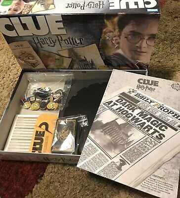 CLUE: Harry Potter Edition Secrets of Hogwarts ~COMPLETE ~ Good Condition
