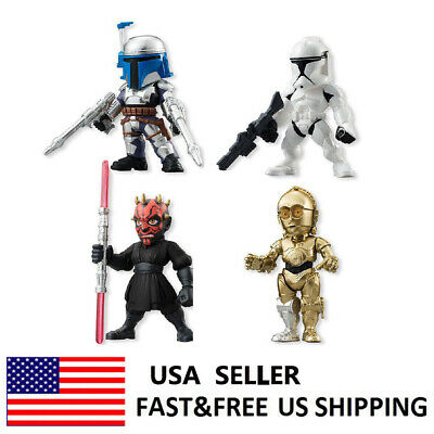 Star Wars The Force Awakens C-3PO Darth Maul Jango Fett Action Figure Toys 4 PCS
