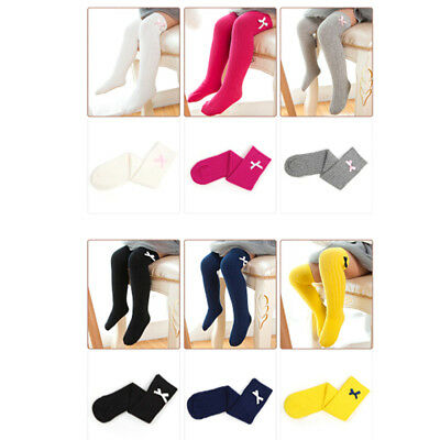 Baby toddler knee high lace sock long boys girls bow knot cute socks MD