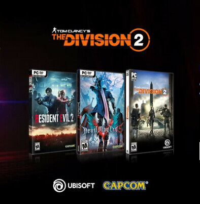 3-GAME BUNDLE: THE Division 2, Resident Evil 2, Devil May Cry 5 from AMD  Rewards