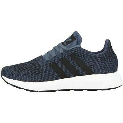 big sale 8faf2 8e365 Adidas Swift Course Chaussures Homme Baskets Loisirs Raw Steel Blanc Noir  Cq2120