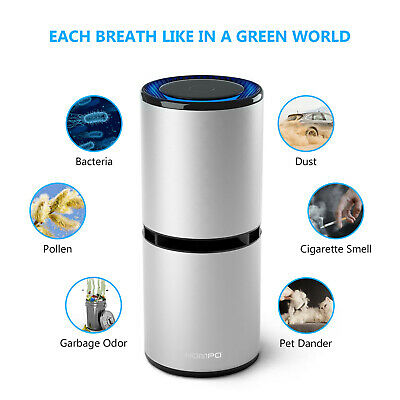 HOMPO Car Air Purifier Ionizer Odor Freshener USB Ionic Cleaner Smoke Remove AU