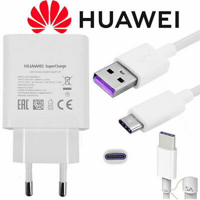 Original Huawei SuperCharge Schnell Ladegerät Typ C USB Ladekabel P10 P20 Pro