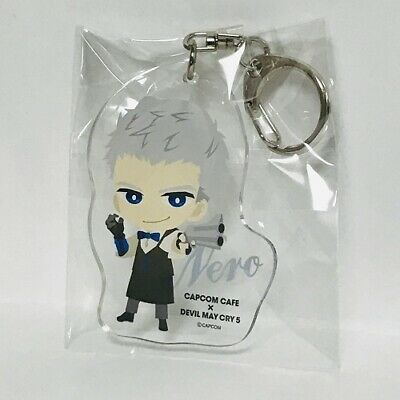 Devil May Cry 5 Vergil Acrylic Keychain /& Button Badges CAPCOM CAFE Limited