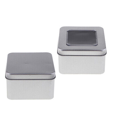 Empty Metal Rectangle Tea Candy Storage Tin Box Lipstick Organizer Container