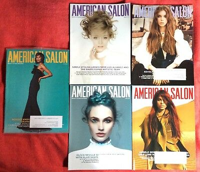 Lot Of 5 American Salon Magazines January February March April May 2018