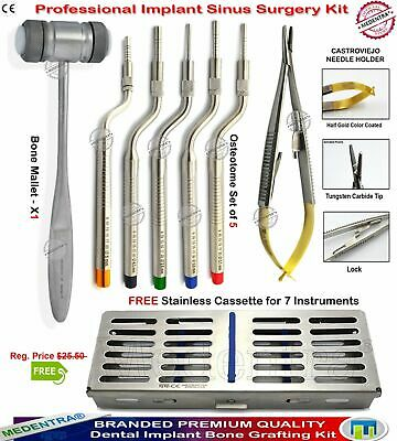 Latest Dental Implant Sinus Osteotome Oral Surgery Instruments Bone Hammer+Tray