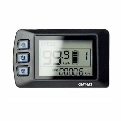 36V OMT-M3 LCD Display Meter/Control Panel for 250W eBike Electric Bicycle