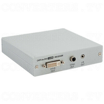 DVI Over CAT5 Receiver Box - 100 meters   (3 Years Warranty)  CA-DVI100R