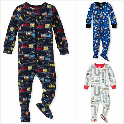 NWT The Childrens Place Boys Space Footed Stretchie Pajamas Sleeper 2T 3T 4T 5T