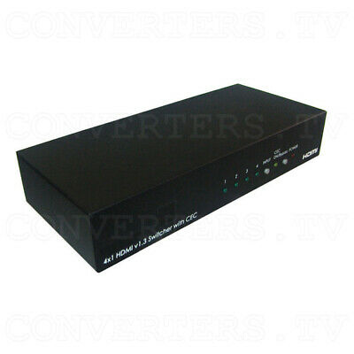 HDMI v1.3 4 In 1 Out Switcher with CEC   (3 Years Warranty)  CLUX-C41C