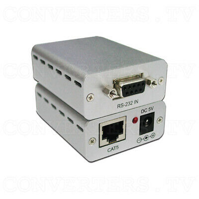 RS-232 Over CAT5 Cable Transmitter and Receiver Extender   (3 Years Warranty)