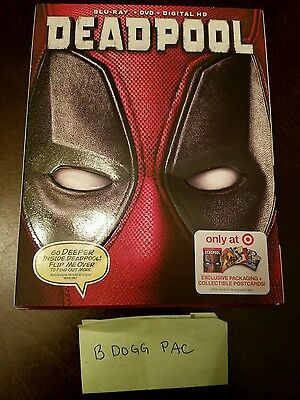 Deadpool Blu-ray DVD w/ postcards Target exclusive with digital download