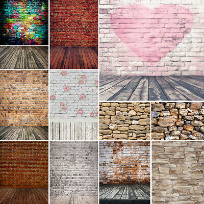 Vintage Wooden Brick Walls Photography Backdrops Vinyl Photo Studio Background