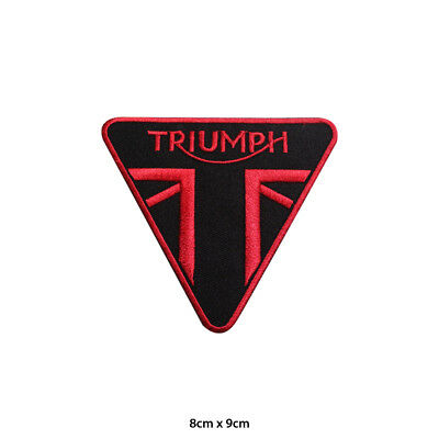 Triumph Motor Racing Bike Brand Logo Embroidered Patch Iron on /Sew On Badge