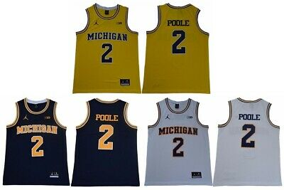 dfdbce9dd75 Jordan Poole Jersey Michigan Wolverines #2 University Sewn Basketball Jersey