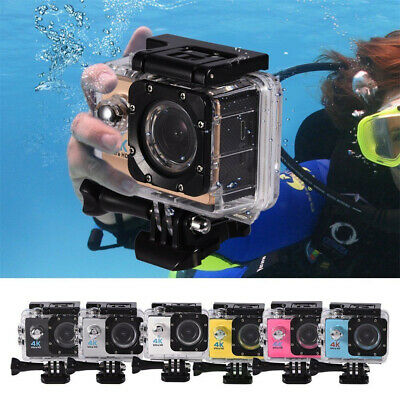 4K Full HD 1080P Underwater Sport Camera WiFi Remote Control Action Camcorder