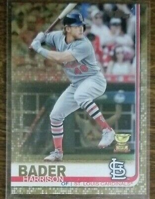 2019 Topps Series 1 Harrison Bader # 97 'Gold Parallel' /2019  Cardinals