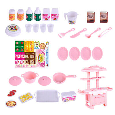 Pink Girl Kitchen Toys cooking kitchen Child Play Set Party Accessories Gift