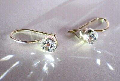 Super shining Vintage Magic RARE Earrings Silver 875 USSR Antique