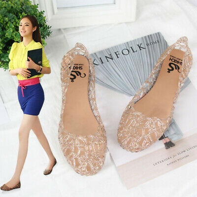 5801aa4cdcd5 Summer Womens Flat Sandals Casual Jelly Shoes Slip On Hollow Out Beach  Slipper