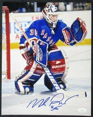 716785624f7 AUTOGRAPHED SIGNED MIKE RICHTER New York Blue Hockey Jersey JSA COA ...