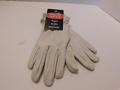 **Designer Ladies Putty Rugged Durable Comfortable Leather Gloves Size Small