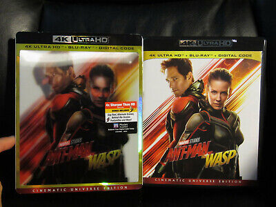Ant-Man and the Wasp 4K UHD + Blu-Ray New with Lenticular Slip Cover Marvel MCU