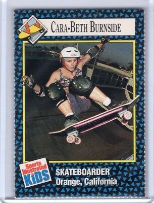 1992 Sports Illustrated Kids Si Sifk skate boarding CARA BETH BURNSIDE