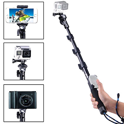 "GoPro Hero 7 6 5 4 Fusion Telescoping Pole Wifi Remote Housing 48.5"" Monopod Big"