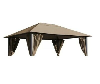 Grasekamp, Replacement Roof for Paris Gazebo, Polyester, Brown, 300 x 400cm