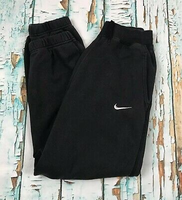 Nike Black Tracksuit Bottoms Joggers Sweatpants Youth Large 12/13 Yrs